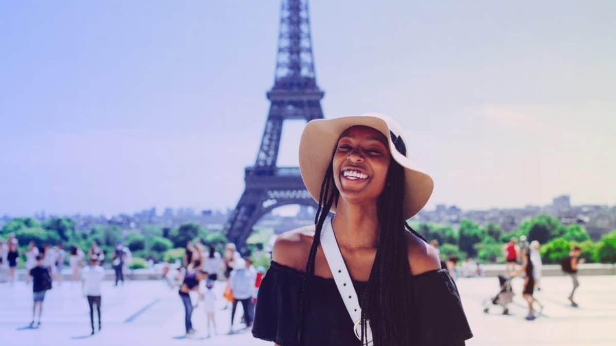 Une touriste à Paris