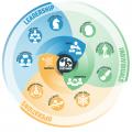 Graphe business agility - 5 domaines