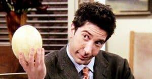 Ross quand il parle de son travail (Friends)